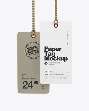 Two Paper Tag Labels Mockup