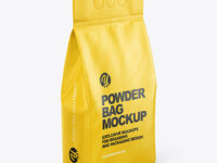 Matte Powder Bag Mockup