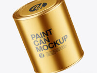 Paint Metallic Tin Can Mockup