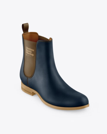 Suede Chelsea Boot Mockup