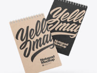 Two Kraft Paper Notebooks Mockup
