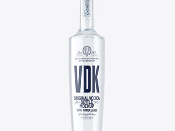 Light Blue Glass Vodka Bottle Mockup