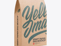Kraft Paper Bag with a Window Mockup