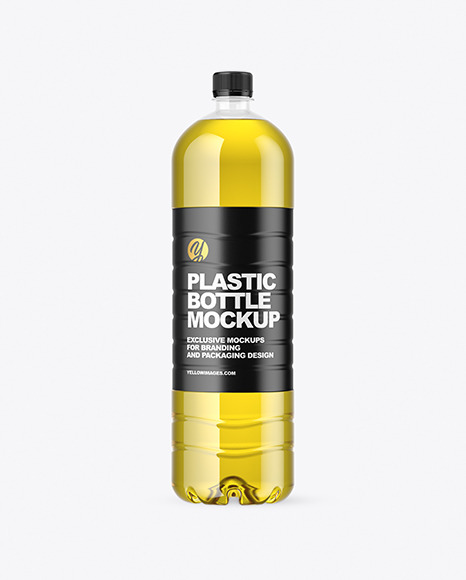 1.5L Clear Plastic Bottle with Olive Oil Mockup