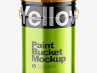 Matallic Paint Bucket Mockup