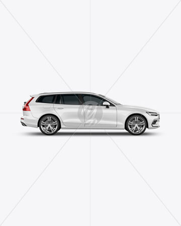 Station Wagon Mockup - Side View