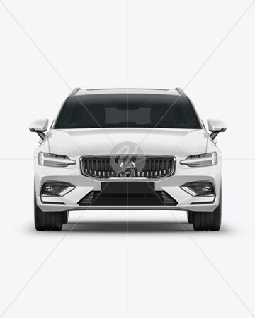 Station Wagon Mockup - Front View