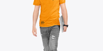 Men in Ringer T-Shirt and Jeans