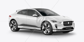 Electric Crossover SUV Mockup - Half Side View