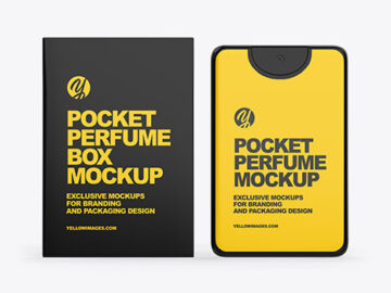 Pocket Perfume With Box Mockup