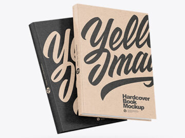 Two Kraft Paper Books Mockup