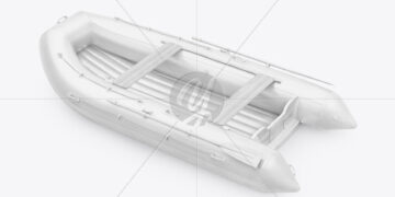 Inflatable Boat Mockup