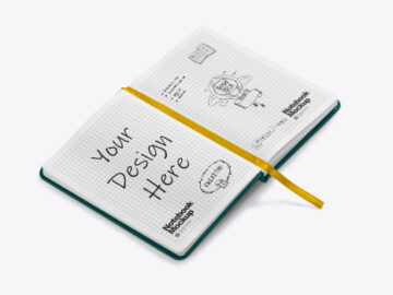 Opened Notebook Mockup