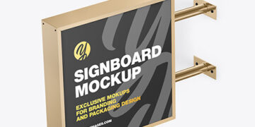 Square Signboard Mockup