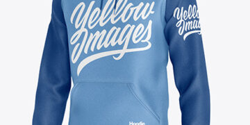 Heather Hoodie Mockup - Half Side View