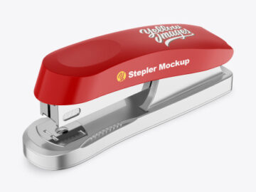 Metallic Stapler Mockup