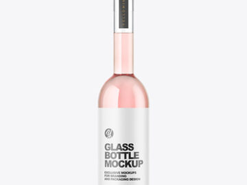 Сlear Glass Liquor Bottle Mockup