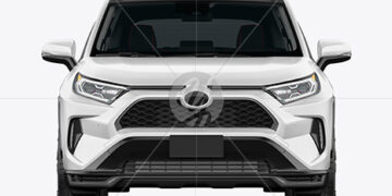 Compact Crossover SUV Mockup - Front View
