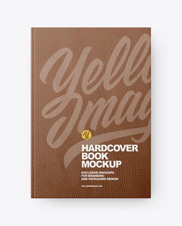 Leather Hardcover Book Mockup