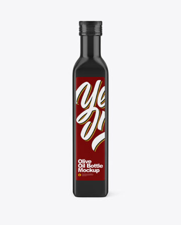 Glossy Ceramic Olive Oil Bottle Mockup