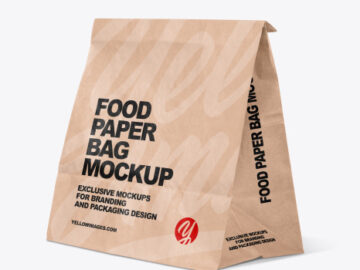 Kraft Paper Food Bag Mockup