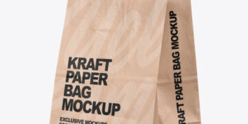 Kraft Paper Shopping Bag Mockup