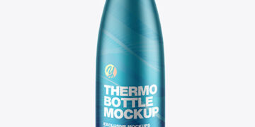 Metallic Thermo Bottle Mockup