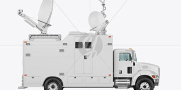 TV Truck Mockup - Side View
