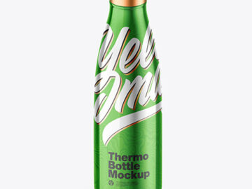 Thermo Bottle Metallic Mockup