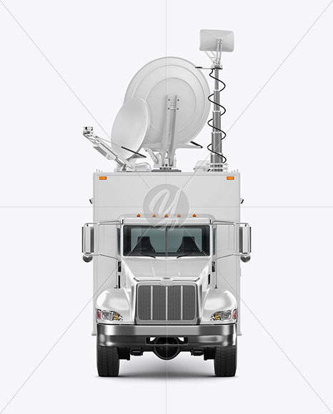 TV Truck Mockup - Front View