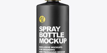 Ceramic Spray Bottle Mockup