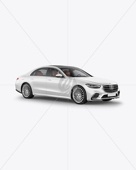 Luxury Car Mockup - Half Side View