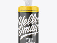 Glossy Wipes Tube Mockup