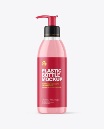Clear Liquid Soap Bottle with Pump