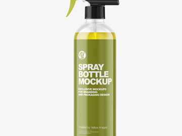 Color Liquid Spray Bottle Mockup