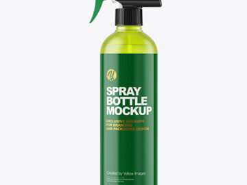 Frosted Color Plastic Spray Bottle Mockup