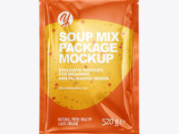 Soup Mix Package Mockup