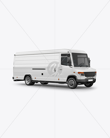 Panel Van Mockup - Half Side View