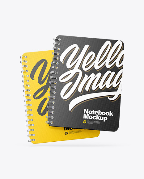 Two Spring Notebooks Mockup