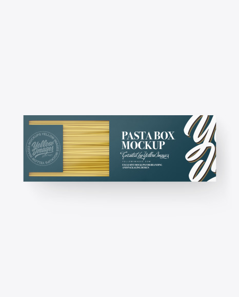 Box with Spaghetti Mockup