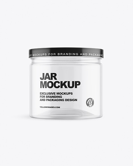 Clear Empty Jar Mockup