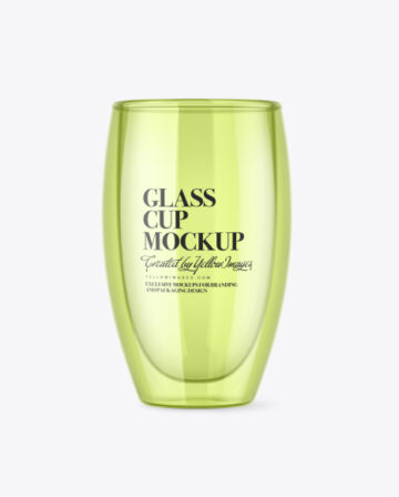 Clear Glass Cup Mockup