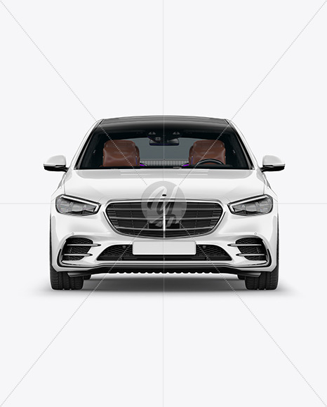 Luxury Car Mockup - Front View