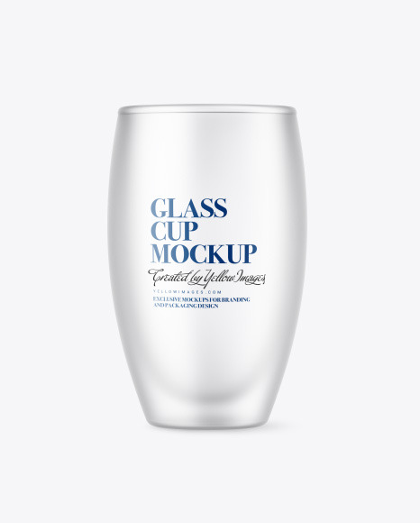Frosted Glass Cup Mockup