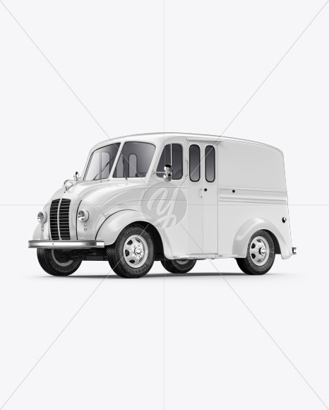Delivery Truck Mockup - Half Side View