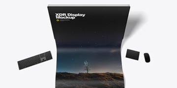 XDR Display with Cloth Screen Mockup