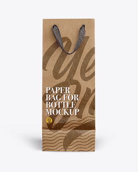 Paper Bag For Bottles - Front View