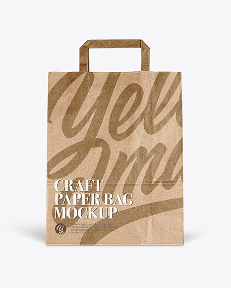 Craft Paper Bag - Front View