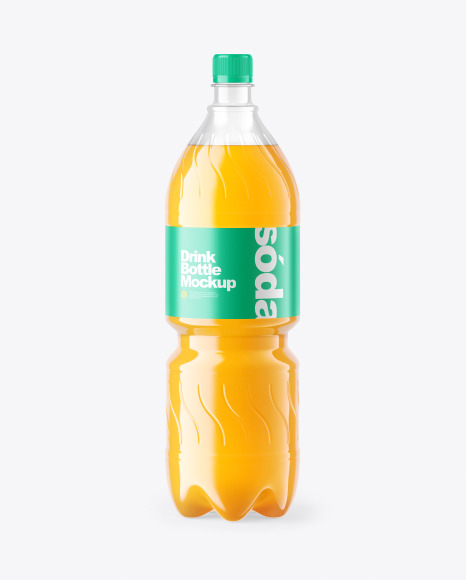 Multifruit Soft Drink Bottle Mockup