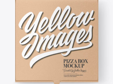 Kraft Pizza Box Mockup